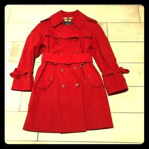 Burberry Kids trench coat in red size 8